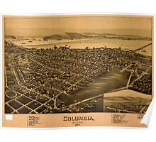 Panoramic Maps Columbia Pennsylvania 1894 Poster