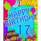 17th Birthday Greeting Card by Moonlake