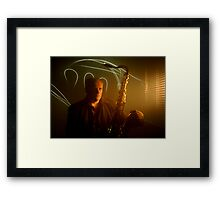 Contemplating his 2-5-1s Framed Print