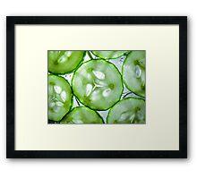 Sliced Cucumber Framed Print