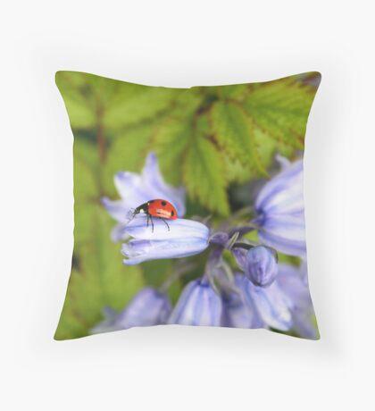 Bluebells in our garden Throw Pillow