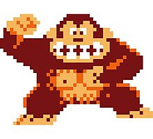Donkey Kong Pixelated Photographic Print