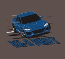 Mazda RX-8 Drift Winning Blue by velocitygallery