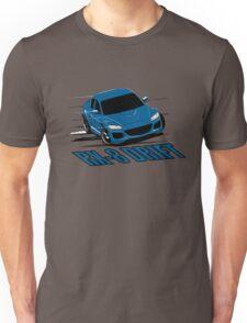 Mazda RX-8 Drift Winning Blue Unisex T-Shirt