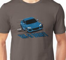Mazda RX-8 Drift Winning Blue Unisex T-Shirt