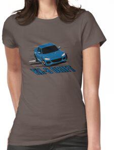 Mazda RX-8 Drift Winning Blue Womens Fitted T-Shirt