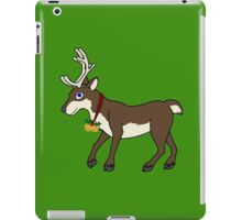 Brown Reindeer with Gold Christmas Jingle Bells iPad Case/Skin