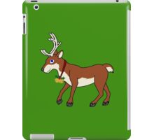 Red Reindeer with Gold Christmas Jingle Bells iPad Case/Skin