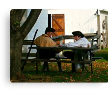 Crop and Zoom on Revolutionary Soldiers, Dey Mansion Canvas Print