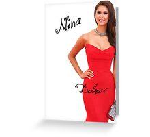 Nina Dobrev - Vampire Diaries Greeting Card