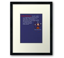 Coffee Monkey - Definition Framed Print