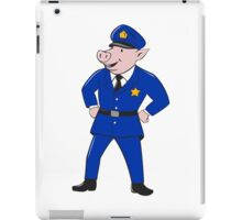 Policeman Pig Sheriff Cartoon iPad Case/Skin