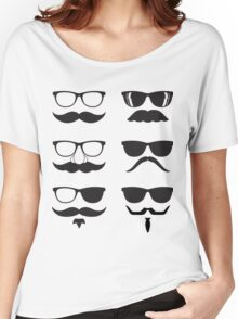 Hipsters Characters Women's Relaxed Fit T-Shirt