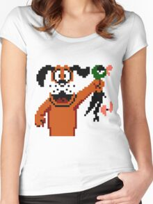 Duck Hunt Dog Women's Fitted Scoop T-Shirt