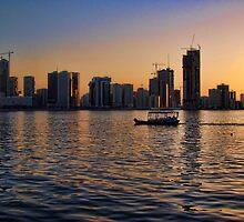 Khalid Lagoon Sunset by Omar Dakhane