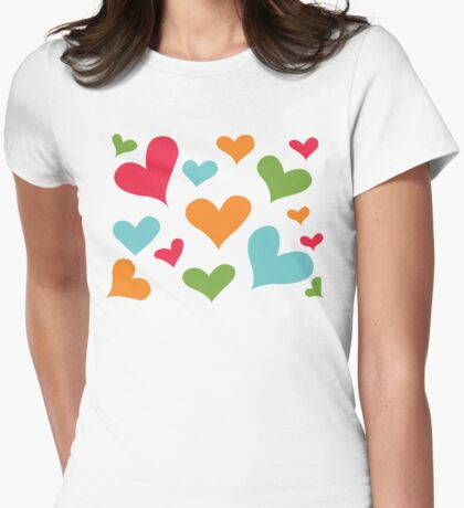 ♥ Sully's hearts ♥ Womens Fitted T-Shirt