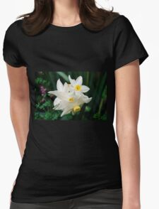 Daffodil flowers Womens Fitted T-Shirt