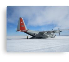 C130 Hercules on Skis Antarctica Metal Print