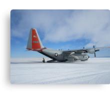 C130 Hercules on Skis Antarctica Canvas Print
