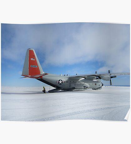 C130 Hercules on Skis Antarctica Poster
