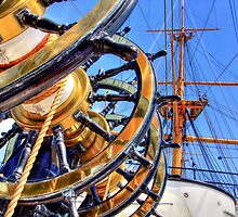 The Helm HMS Warrior - HDR by Colin  Williams Photography