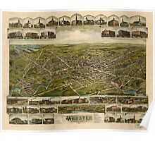 Panoramic Maps Webster Massachusetts 1892 Poster