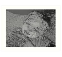 Napping Little Boy Art Print