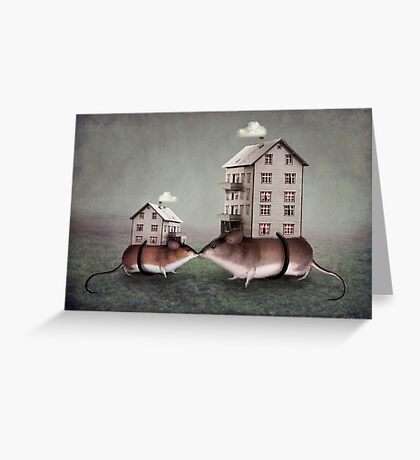Your place or mine? Greeting Card