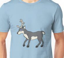 Gray Reindeer with Antlers Unisex T-Shirt