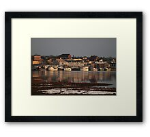 A Winter View of Yarmouth Town Framed Print