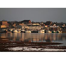 A Winter View of Yarmouth Town Photographic Print