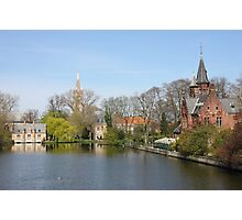 Minnewater in Bruges,  Belguim Photographic Print