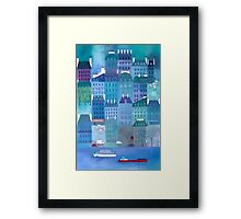 Paris Blues Framed Print