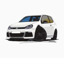 VW Golf R White (Black Wheels) by Richard Yeomans