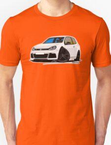 VW Golf R White (Black Wheels) Unisex T-Shirt