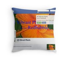 All Vibrant Plants Group on Facebook Throw Pillow