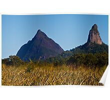 Mt Beewah and Mt Coonowrin Poster
