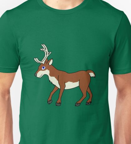 Red Reindeer with Antlers Unisex T-Shirt