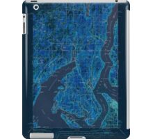 USGS Topo Map Washington State WA Gig Harbor 241263 1942 62500 Inverted iPad Case/Skin