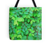 GREEN LEAVES - THROW PILLOW Tote Bag