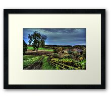Fields around Beamish Museum Framed Print