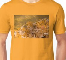 Floating Chaos - Fallen Oak Leaves in the Fountain Unisex T-Shirt