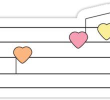 Musical Hearts Sticker