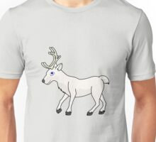 White Reindeer with Antlers Unisex T-Shirt