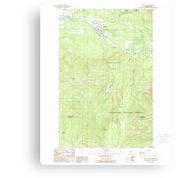USGS Topo Map Washington State WA Gold Bar 241342 1989 24000 Canvas Print