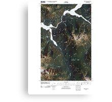 USGS Topo Map Washington State WA Ross Dam 20110503 TM Canvas Print