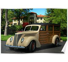 1937 Ford Woody Station Wagon Poster