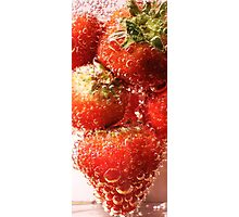Fizzy Strawberry Photographic Print