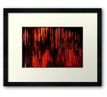Liquid Love in Red Framed Print
