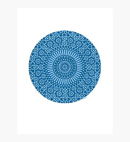 blue throat chakra Photographic Print